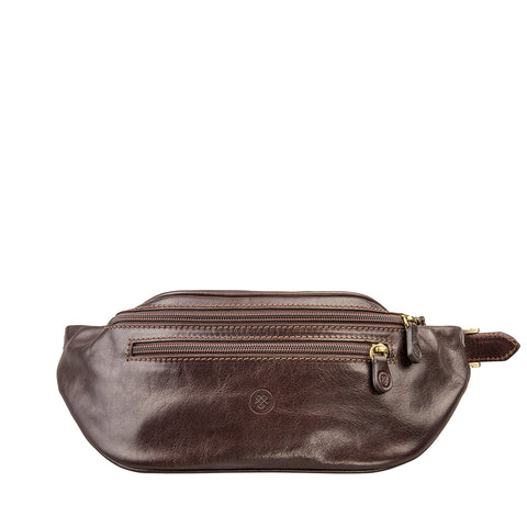 Image 1 of the 'Centolla' Dark Chocolate Veg-Tanned Leather Waist Bag