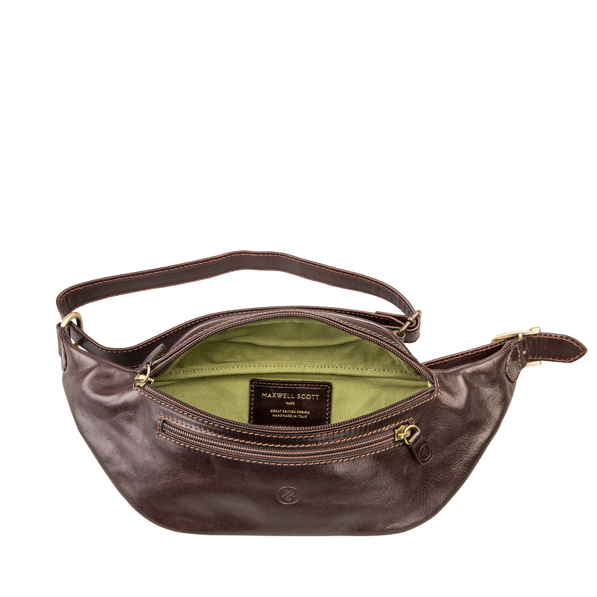 Image 4 of the 'Centolla' Dark Chocolate Veg-Tanned Leather Waist Bag