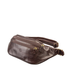 Image 2 of the 'Centolla' Dark Chocolate Veg-Tanned Leather Waist Bag