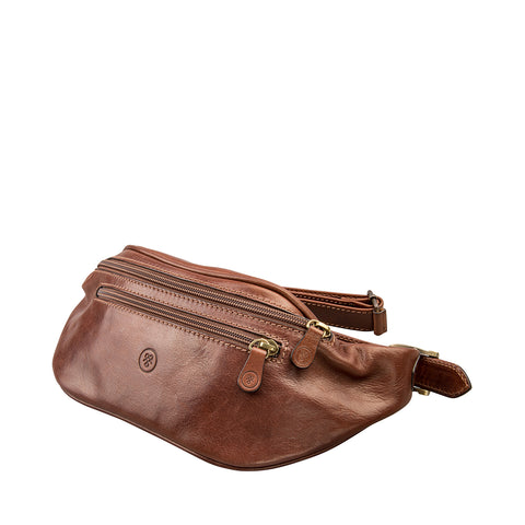 Image 2 of the 'Centolla' Chestnut Veg-Tanned Leather Waist Bag