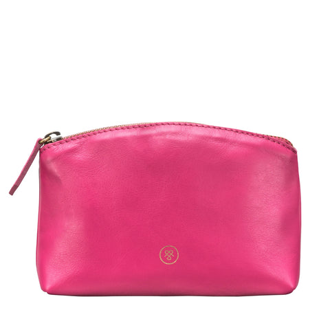 Image 1 of the 'Chia' Italian Leather Make Up Bag