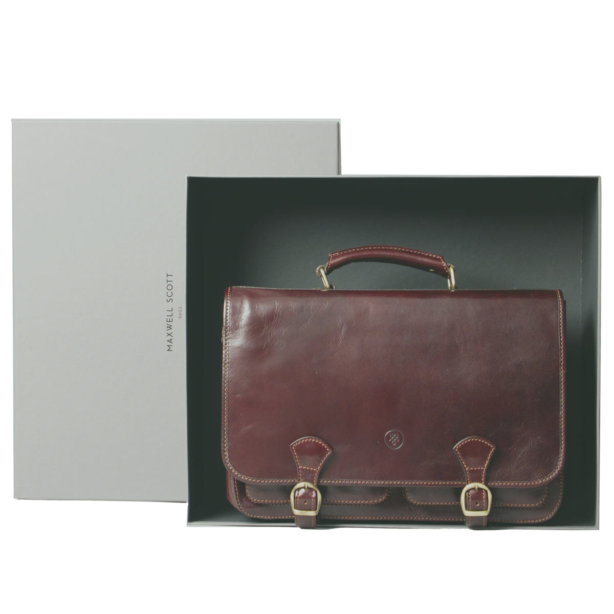 Image 7 of the 'Jesolo Tre' Dark Chocolate Veg-Tanned Leather Satchel