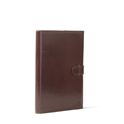 Image 2 of the 'Gallo' Dark Chocolate Veg-Tanned Leather Prestige Business Folder