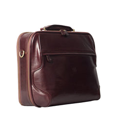 Image 2 of the 'Volterra' Brown Veg Tanned Leather Laptop Case