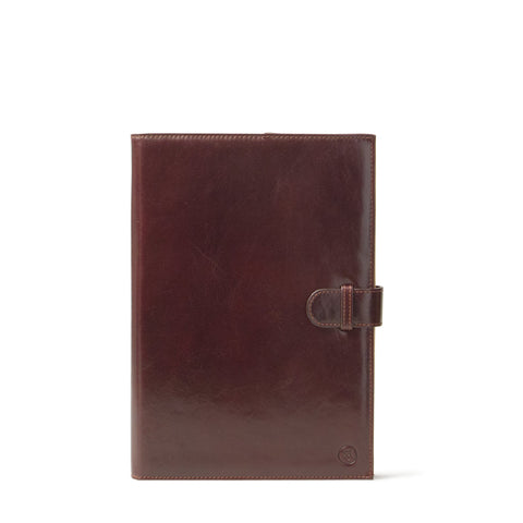 Image 1 of the 'Gallo' Dark Chocolate Veg-Tanned Leather Prestige Business Folder