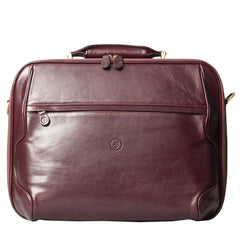 Image 1 of the 'Volterra' Brown Veg Tanned Leather Laptop Case