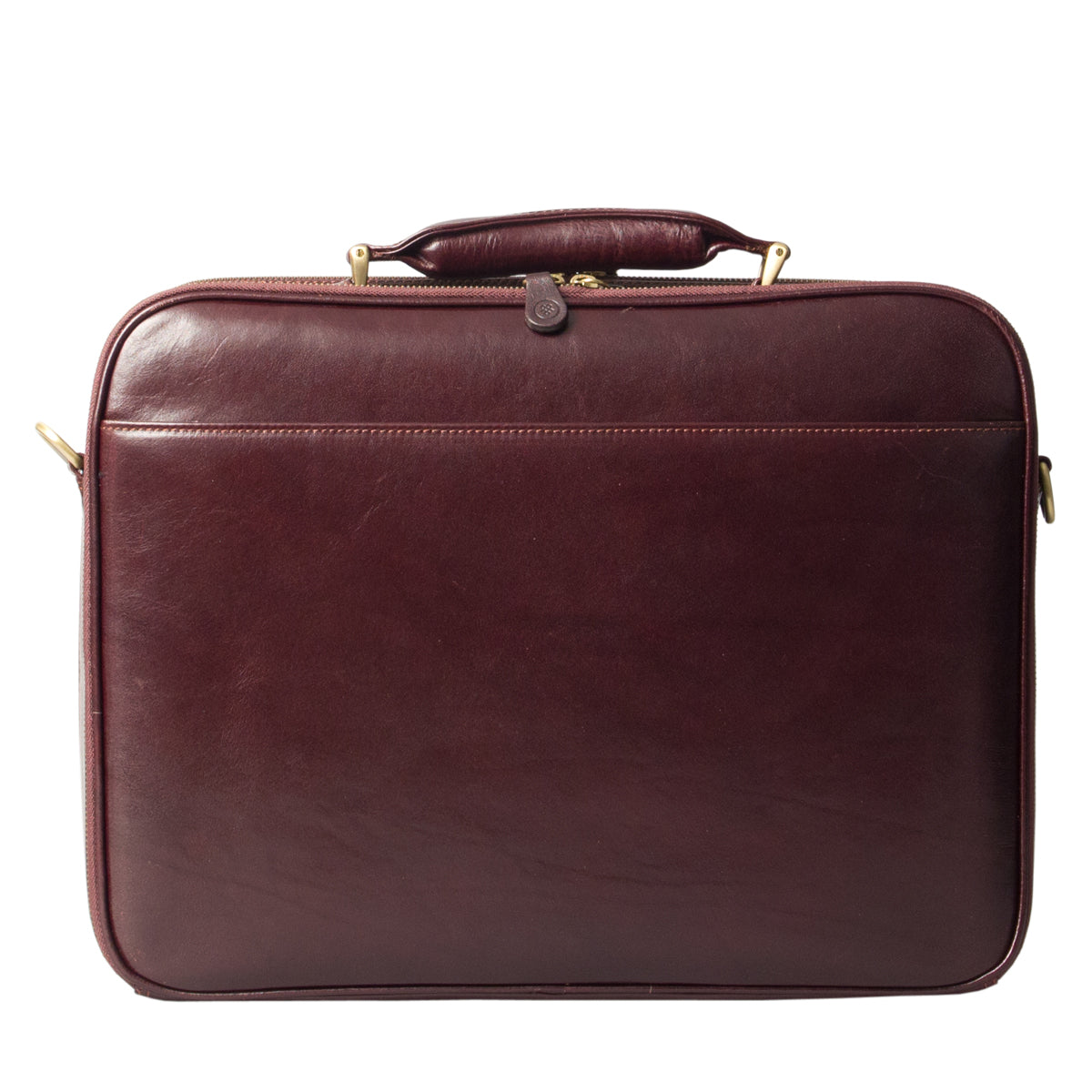 Image 4 of the 'Volterra' Brown Veg Tanned Leather Laptop Case