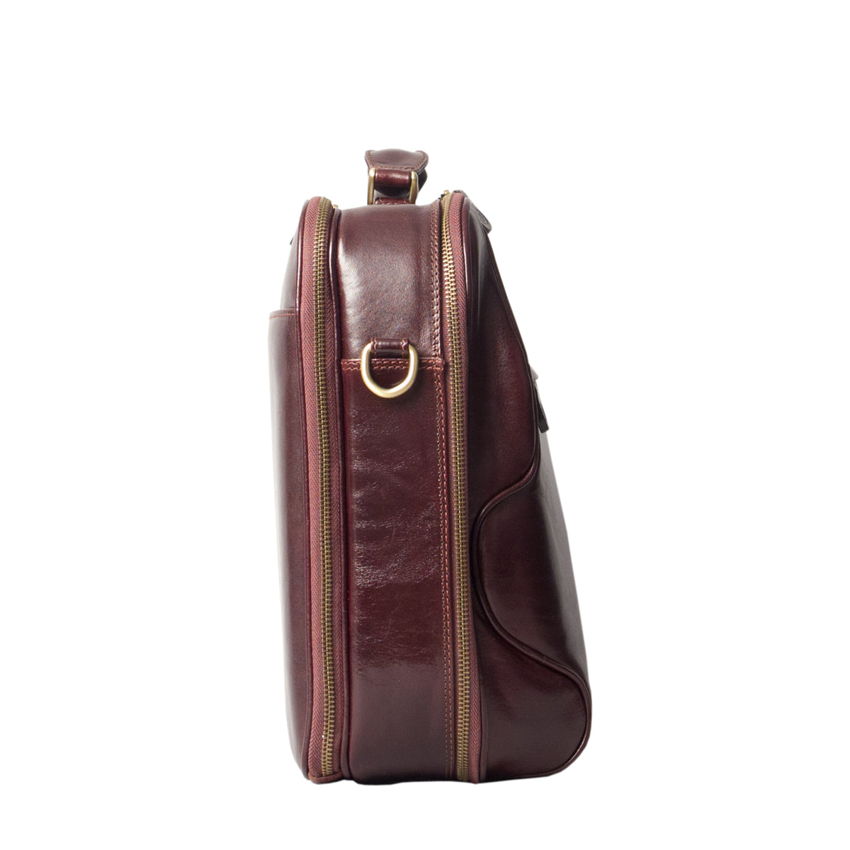 Image 3 of the 'Volterra' Brown Veg Tanned Leather Laptop Case