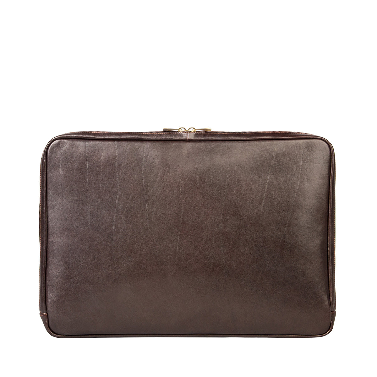 Image 3 of the 'Davoli' 17 Inch Brown Veg-Tanned Leather Laptop Bag