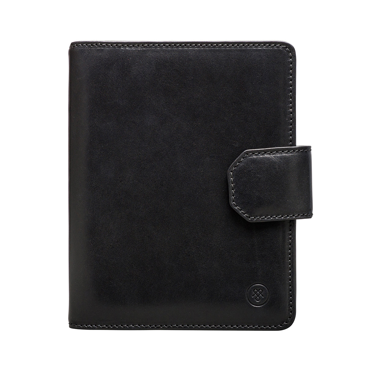 Image 1 of the 'Mozzano' Black Veg-Tanned Leather A5 Padfolio