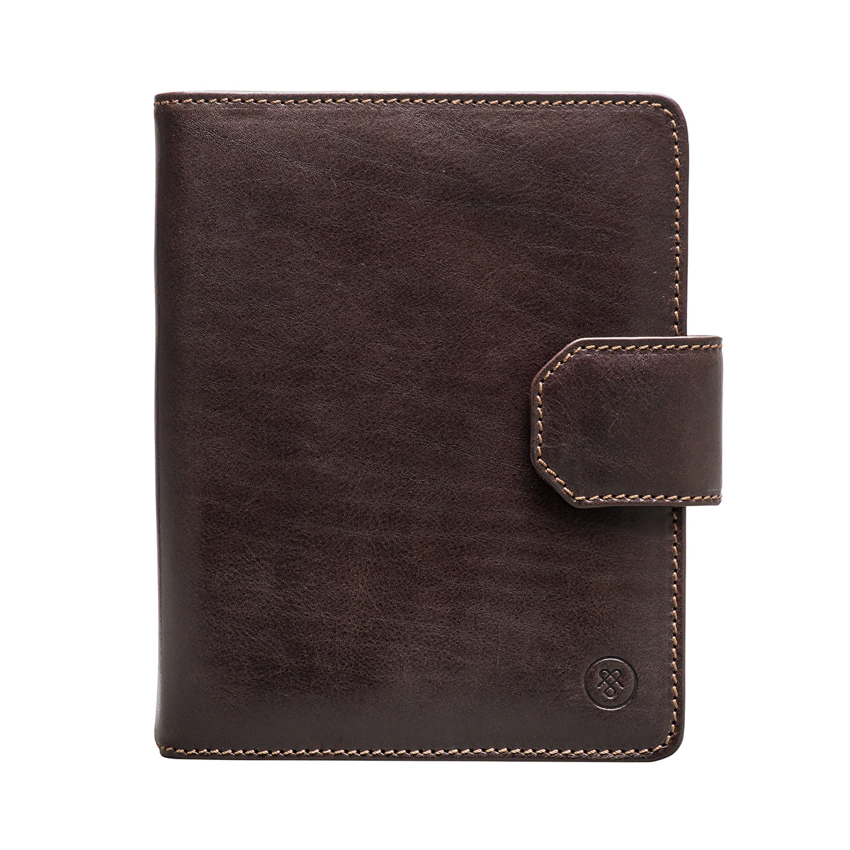 Image 1 of the 'Mozzano' Dark Chocolate Veg-Tanned Leather A5 Padfolio
