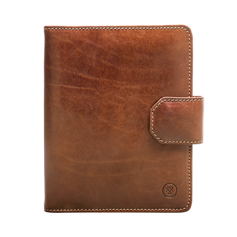Image 1 of the 'Mozzano' Chestnut Veg-Tanned Leather A5 Padfolio
