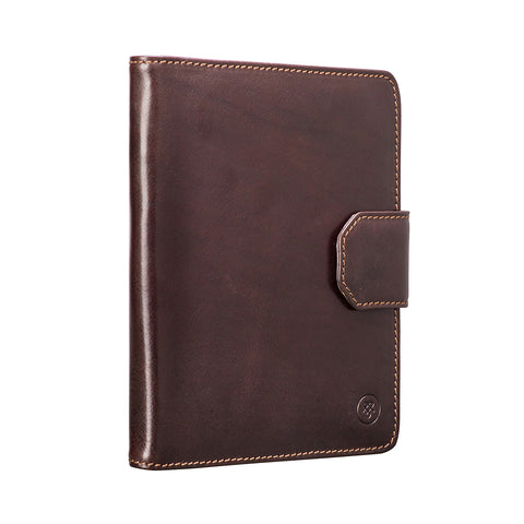 Image 2 of the 'Mozzano' Dark Chocolate Veg-Tanned Leather A5 Padfolio