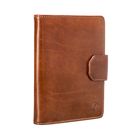 Image 2 of the 'Mozzano' Chestnut Veg-Tanned Leather A5 Padfolio