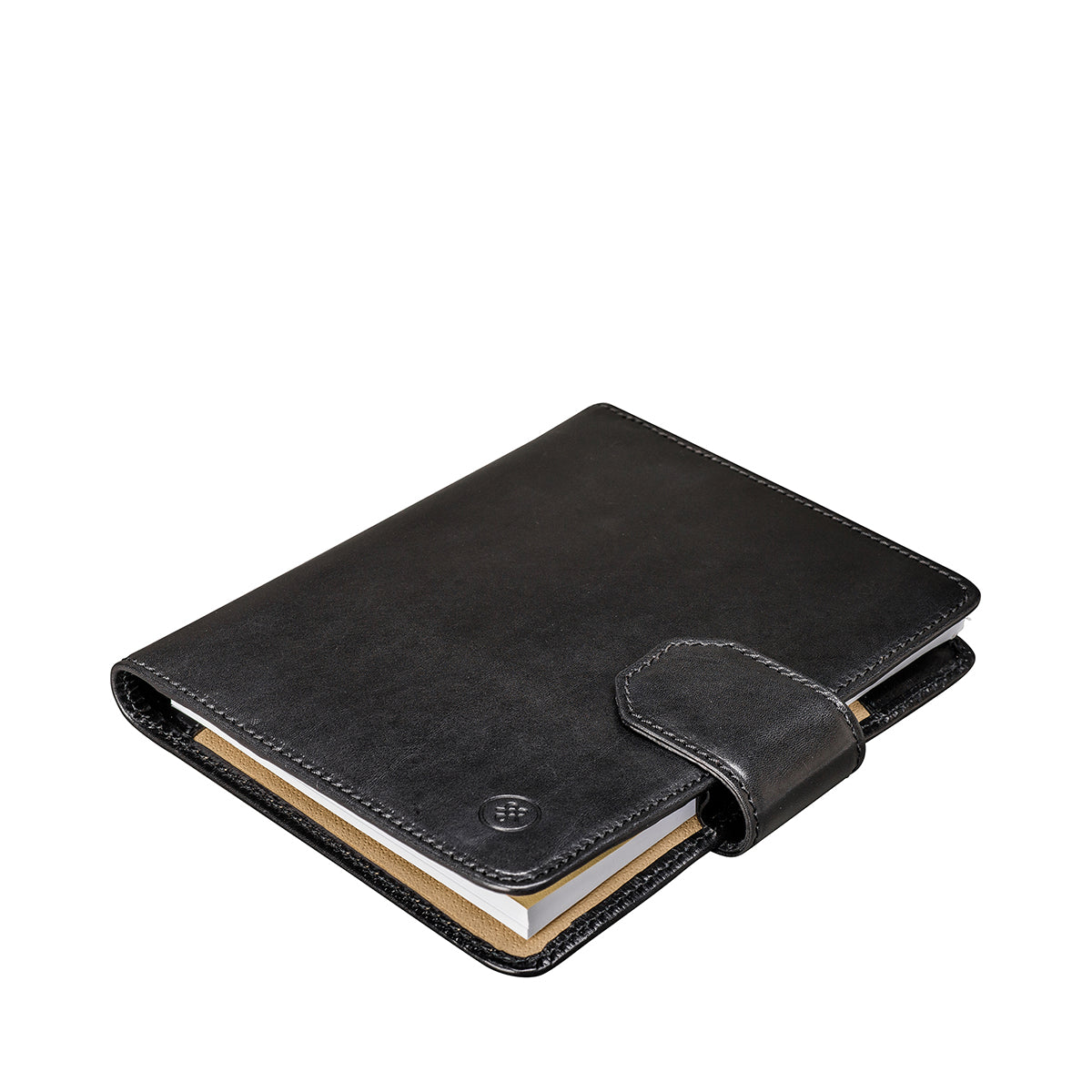 Image 3 of the 'Mozzano' Black Veg-Tanned Leather A5 Padfolio