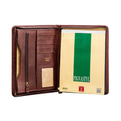 Image 4 of the 'Dimaro' Zipped Mock Croc Leather Conference Folder