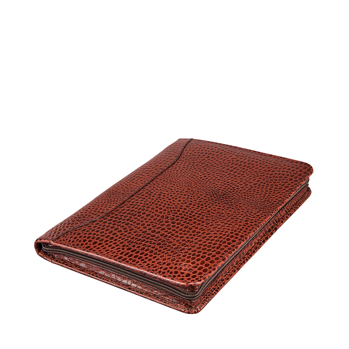 Image 2 of the 'Dimaro' Zipped Mock Croc Leather Conference Folder