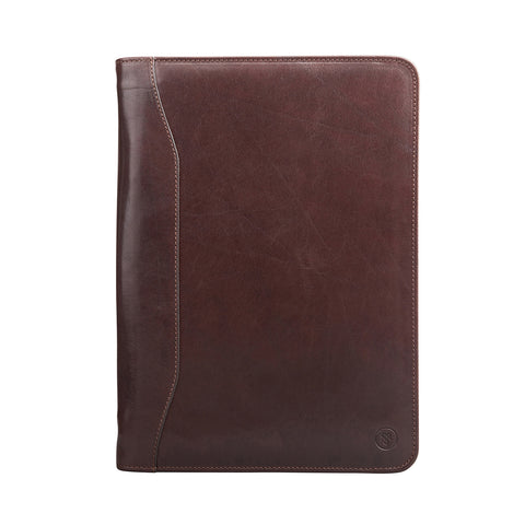 Image 1 of the 'Dimaro' Brown A4 Leather Conference Folder