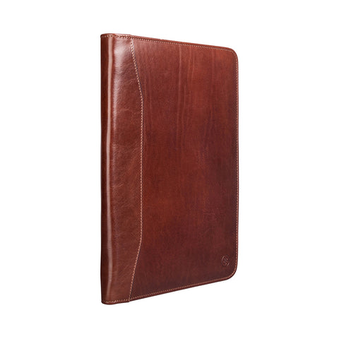 Image 2 of the 'Dimaro' Tan Leather Zipped Conference Folder