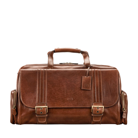 Image 1 of the 'Dino' Chestnut Veg-Tanned Leather Holdall