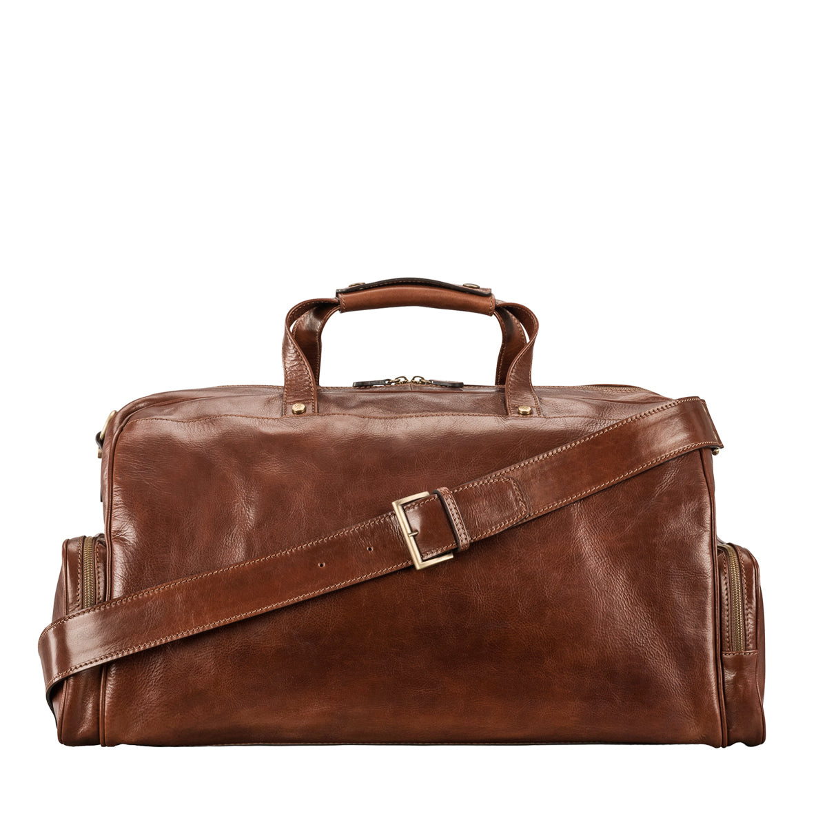 Image 4 of the 'Dino' Chestnut Veg-Tanned Leather Holdall