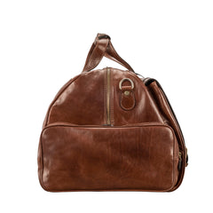 Image 3 of the 'Dino' Chestnut Veg-Tanned Leather Holdall
