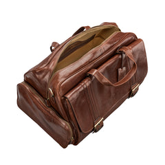 Image 5 of the 'Dino' Chestnut Veg-Tanned Leather Holdall