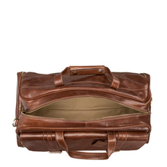 Image 6 of the 'Dino' Chestnut Veg-Tanned Leather Holdall