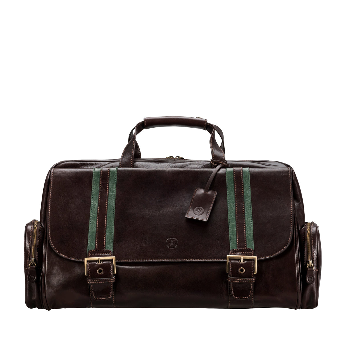 Image 1 of the 'Dino' Dark Chocolate Veg-Tanned Leather Holdall