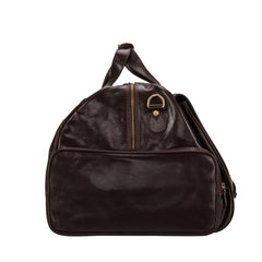 Image 3 of the 'Dino' Dark Chocolate Veg-Tanned Leather Holdall