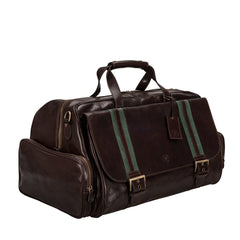 Image 2 of the 'Dino' Dark Chocolate Veg-Tanned Leather Holdall