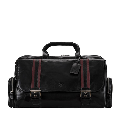 Image 1 of the 'Dino' Black Veg-Tanned Leather Holdall
