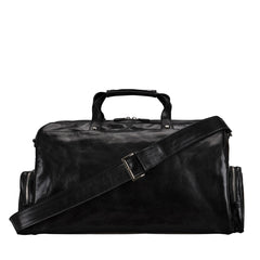 Image 4 of the 'Dino' Black Veg-Tanned Leather Holdall