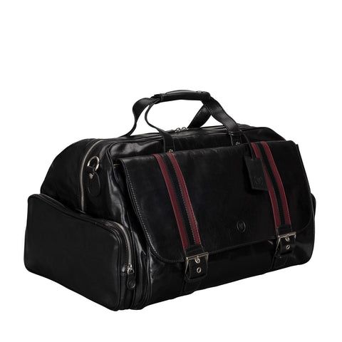 Image 2 of the 'Dino' Black Veg-Tanned Leather Holdall