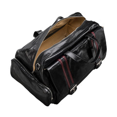 Image 5 of the 'Dino' Black Veg-Tanned Leather Holdall