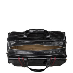 Image 6 of the 'Dino' Black Veg-Tanned Leather Holdall