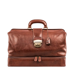 Image 1 of the Large ''Donnini' Chestnut Veg-Tanned Leather Doctor's Bag