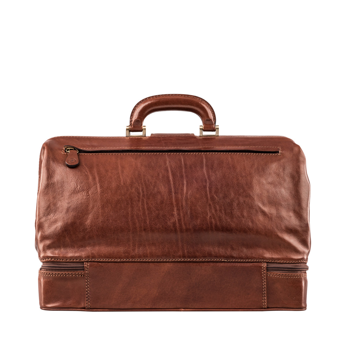Image 4 of the Large ''Donnini' Chestnut Veg-Tanned Leather Doctor's Bag