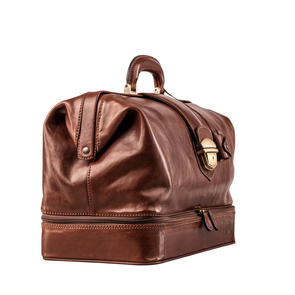 Image 2 of the Large ''Donnini' Chestnut Veg-Tanned Leather Doctor's Bag