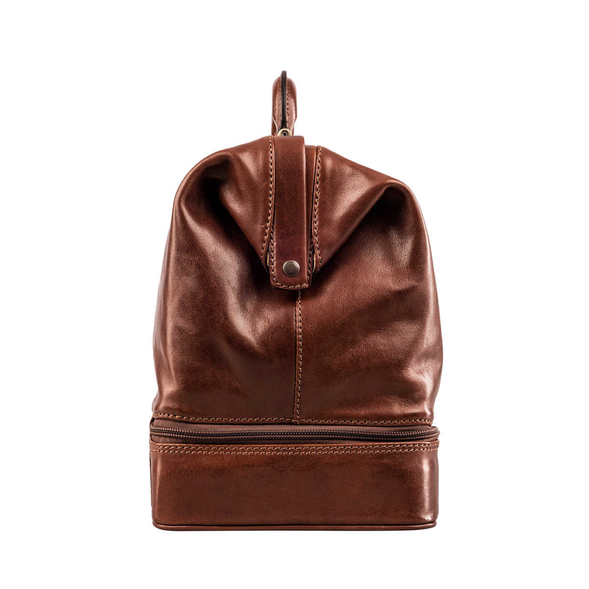 Image 3 of the Large ''Donnini' Chestnut Veg-Tanned Leather Doctor's Bag
