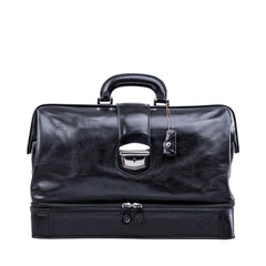 Image 1 of the Large ''Donnini' Black Veg-Tanned Leather Doctor's Bag