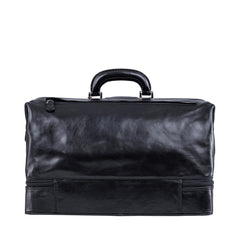Image 4 of the Large ''Donnini' Black Veg-Tanned Leather Doctor's Bag