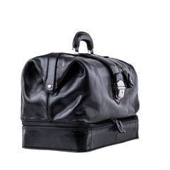 Image 2 of the Large ''Donnini' Black Veg-Tanned Leather Doctor's Bag