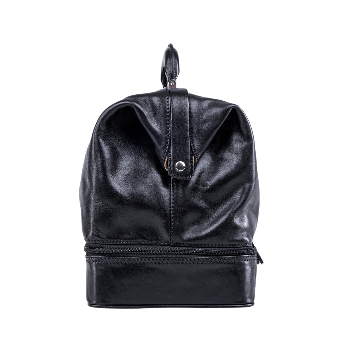 Image 3 of the Large ''Donnini' Black Veg-Tanned Leather Doctor's Bag
