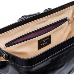 Image 7 of the Large ''Donnini' Black Veg-Tanned Leather Doctor's Bag