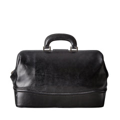 Image 4 of the 'Donnini' Black Veg-Tanned Leather Doctor's Bag