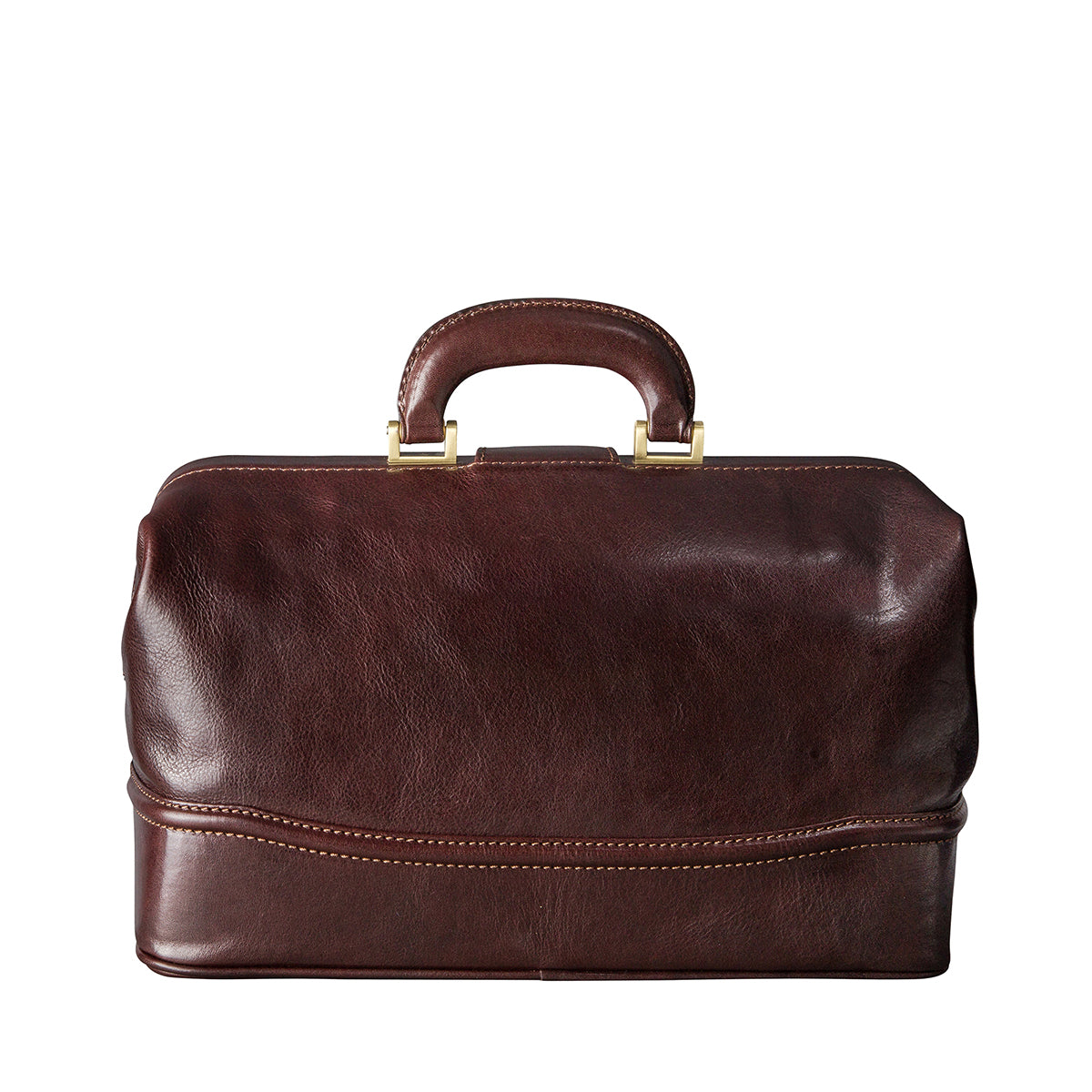 Image 4 of the 'Donnini' Dark Chocolate Veg-Tanned Leather Doctor's Bag