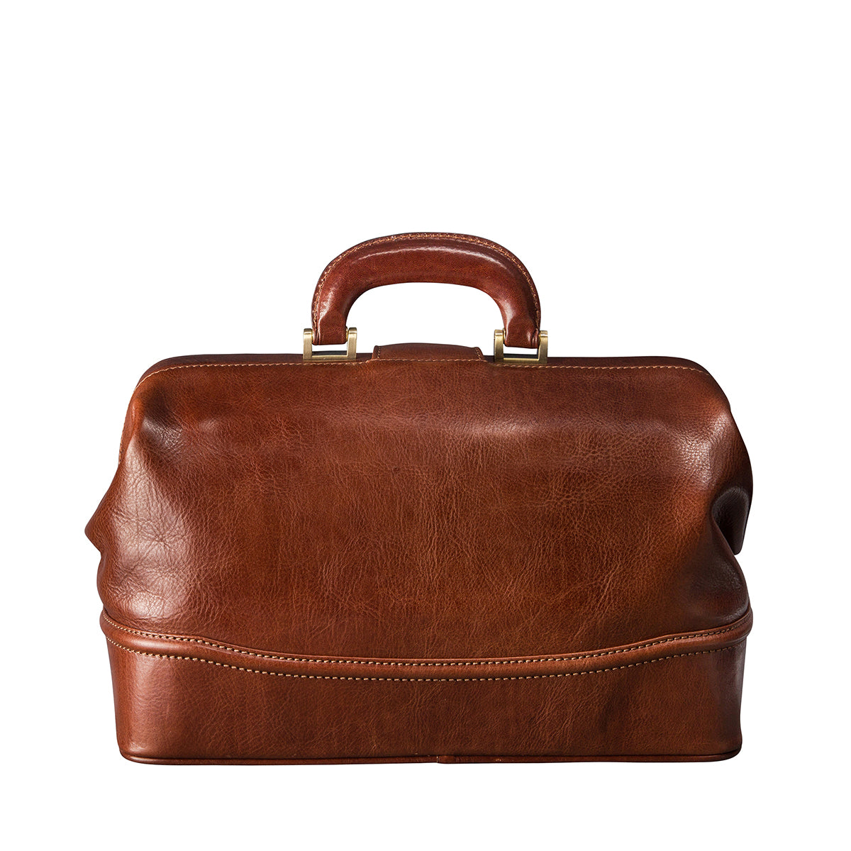 Image 4 of the 'Donnini' Chestnut Veg-Tanned Leather Doctor's Bag