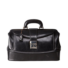 Image 1 of the 'Donnini' Black Veg-Tanned Leather Doctor's Bag