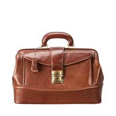 Image 1 of the 'Donnini' Chestnut Veg-Tanned Leather Doctor's Bag
